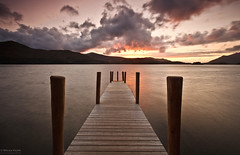 Walk To The Water (.Brian Kerr Photography.) Tags: sunset sky colour clouds canon landscape nationalpark jetty lakes lakedistrict cumbria derwentwater keswick skiddaw walktothewater catbell eos5dmkii briankerrphotography