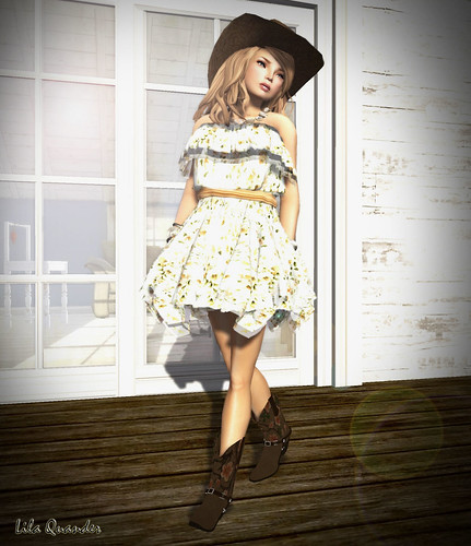 Culture Shock - ~*INDIE ROSE*~ - Frilled Tube Top Dress -[ Floral 3]