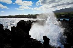Collide | Waianapanapa State Park, Hana, Maui (Jeff Lewis (LewisDot)) Tags: ocean park travel sea usa nature landscape hawaii lava waianapanapa state wave maui spray hana splash 1740 xsi blacksandbeach canon1740mm canonxsi
