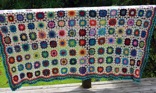 crocheted blanket, airy goodness.