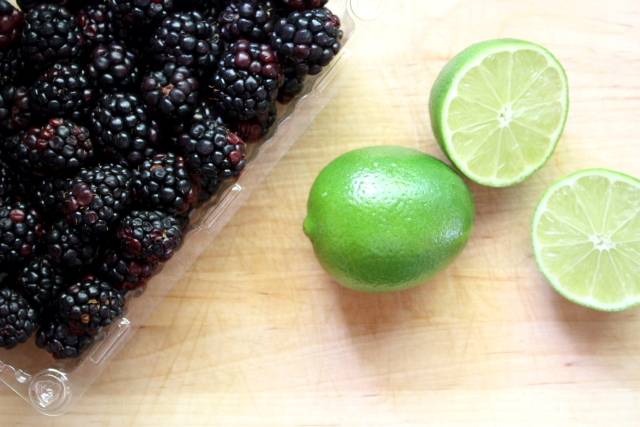 limes and blackberries