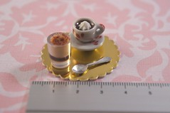 Dollhouse Miniature 1/12 Scale - Creme Brulee with Hot Chocolate Set (P's Design Miniatures) Tags: hot cremebrulee cute dessert miniature yummy handmade chocolate smooth cream polymerclay dollhouse teamminimakers