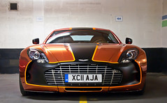 One-77 (Thomas van Rooij) Tags: uk orange london cars car start photography one nikon europe tour martin thomas united parking trafalgar wrap kingdom automotive event exotic nikkor 3000 77 rare supercar aston gumball engeland exotics supercars londen v12 18105 gumball3000 evenement 2011 d90 hypercar rooij worldcars one77 thomasvanrooij