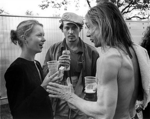 Kate Moss - Johnny Depp & Iggy Pop