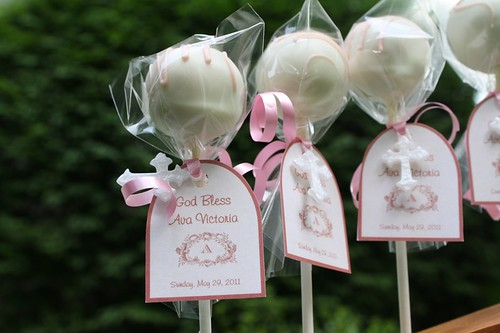 Baptism Cake Pops by Kim C. (NJ)