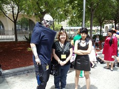 Me, my friend, and cute DLC Shepard (ammnra) Tags: cosplay fanime shepard masseffect garrus fanime2011
