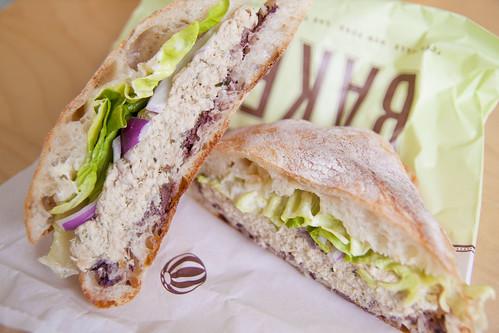 Bouchon Bakery Tuna Nicoise sandwich