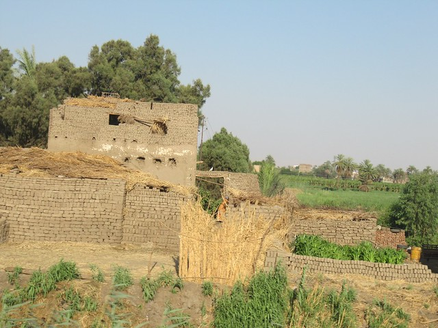 Houses along the Nile made out of mud