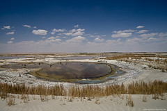 Salt lake near Urgench