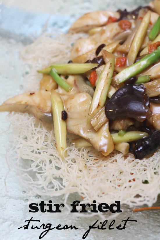 stir fried sturgeon fillet1