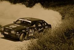 Alfa 75 in controsterzo (Antonio Cinotti ) Tags: auto rally alfa siena 75 rewind tuscan asciano 2011 storica