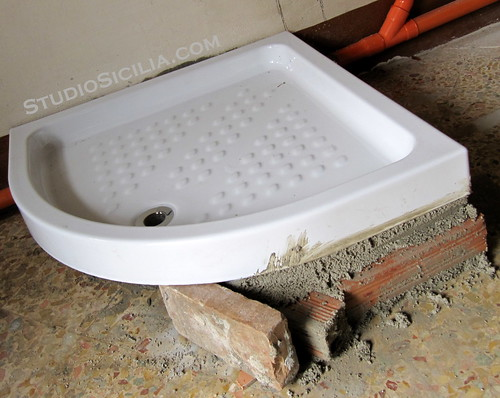 Studio Sicilia: Shower Tray installed