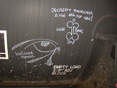 Iowa Joe, Lone Bone (xbrucexx) Tags: art car train chalk box hobo freight markal moniker paintstik