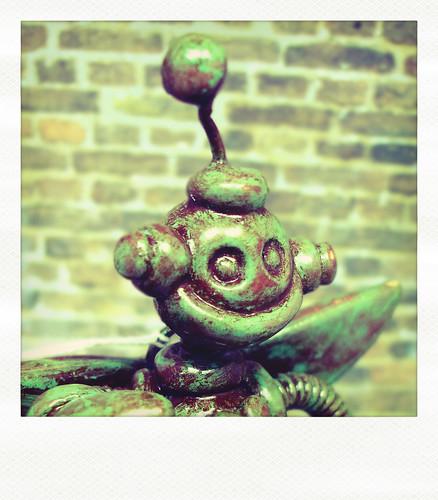 Sneak Peek | Green Robot is full of Green by HerArtSheLoves