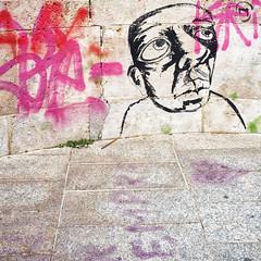 I Think Therfore I Am (ProphecyBlur) Tags: face wall graffiti sardinia fuji finepix cagliari x100