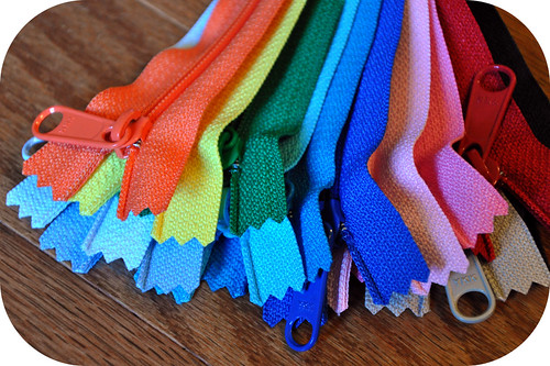 Rainbow Handbag Zippers