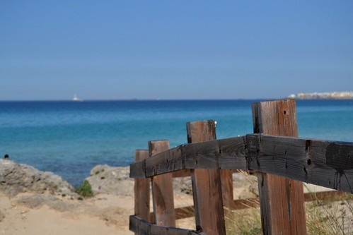 sea beach mare gallipoli spiaggia staccionata (Photo: Bea ♡ on Flickr)