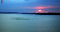 Sail vs Skidoo (Kansas Poetry (Patrick)) Tags: sunset sailboats skidoo lawrencekansas clintonlake patrickemerson patricklovesnancyandournewdog
