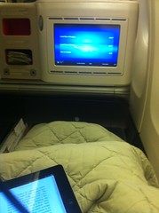 Sleeping on Turkish Airlines flight from Shanghai