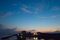 Dusk of the Early Summer (halfrain) Tags: city sunset sea sky cloud japan town twilight dusk sigma 1020mm 16mm  foveon sigma1020mm  sd15 sigma1020mmf35  sigma102035