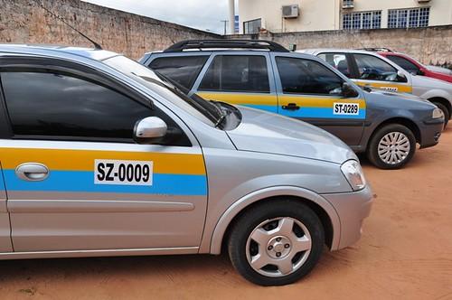 Padronização dos táxis. Foto Ronaldo Ferreira