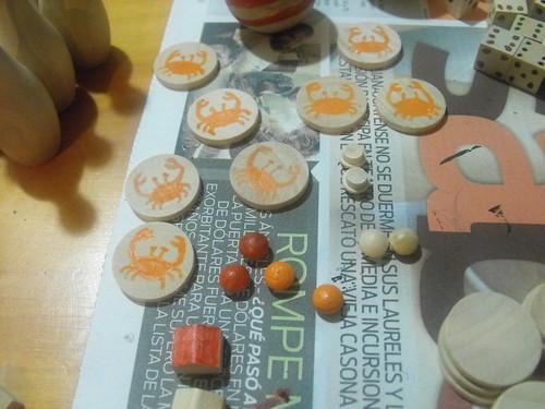 Casitas, fichas, hongos