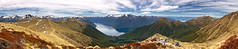 View to the head of South  Fiord. Lake Te Anau, Kepler Track, Fiordland, New Zealand (goneforawander) Tags: park new travel newzealand panorama nature composite rural trekking walking landscape island back nikon rainforest scenery track stitch pacific hiking walk pano south country great southern zealand national backpacking montage nz land backcountry photomerge doc kepler southland tramp australasia fiordland oceania d90 goneforawander