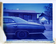 Gila Bend, AZ (moominsean) Tags: auto summer arizona polaroid desert heat 190 gilabend type108 expired012000