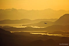 Flight (David Parks - davidparksphotography.com) Tags: ocean sunset sky sun david mountains water set alaska airplane landscape fly nikon air parks juneau pane d700