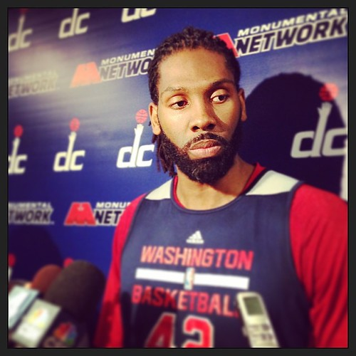 Game Face Nene, #Wizards. #Playoffs.