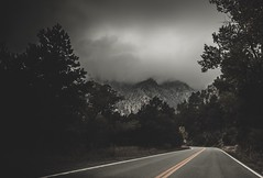 Head in the clouds (Blockshadows) Tags: carshot markiv sigma24mmf14 art 24mm sigma 2016 72 highway road somber moody rain seasons fall autumn trees colorado wideangle canon landscape rockymountains mountains clouds weather fog foggy