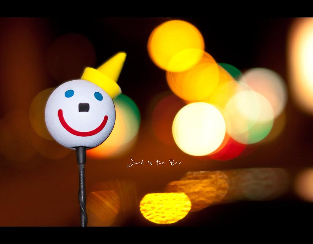 Project 365, 228/365, Day 228, bokeh, jack in the box, car, antenna, burger, burgers, bokeh balls, bokeh bubbles, colours, happy, smile, Sigma 50mm F1.4 EX DG HSM, 50 mm, 50mm,