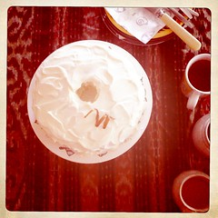Hipstamatic 201-Banana Chiffon Cake with Cream Cheese Frosting