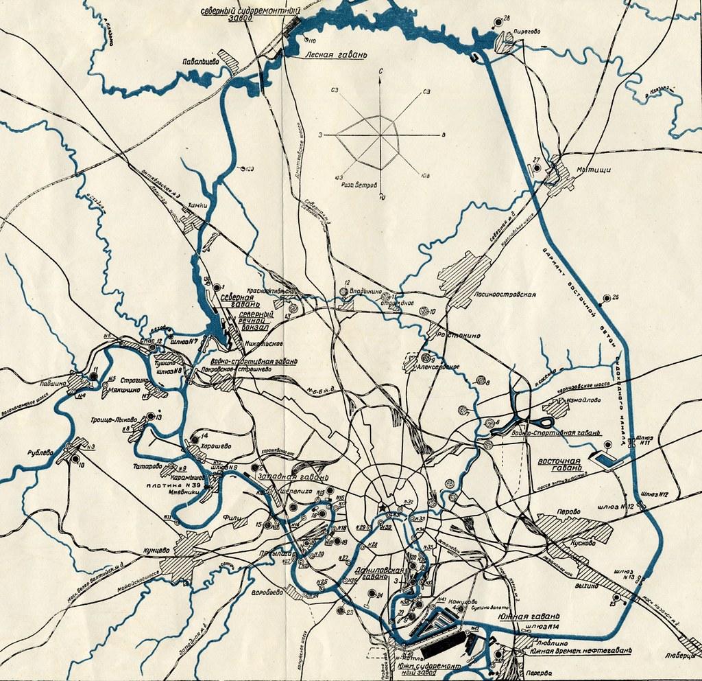 Москва_водные пути_1935_мал