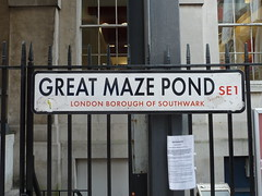 street sign, Great Maze Pond, SE1