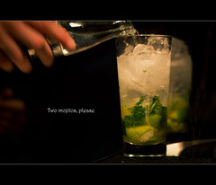 At the bar (-eLo- 365) Tags: green bar night cocktail mojito 365 project365 canoneos550d cambridgeukphotographer