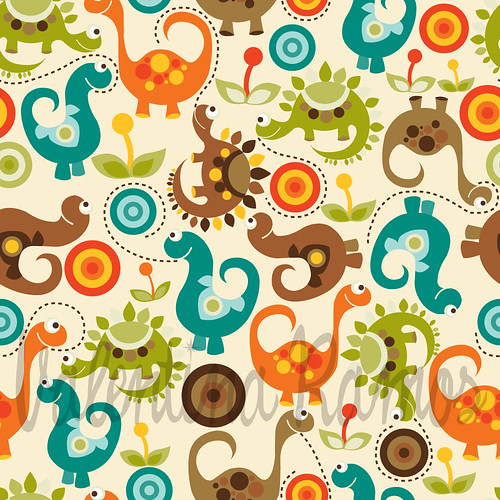 Baby Dino. Fabric design