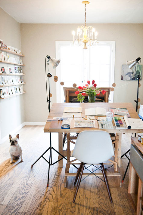 1- gwendolyn of dear hancock, home office inspiration via designspongeonline