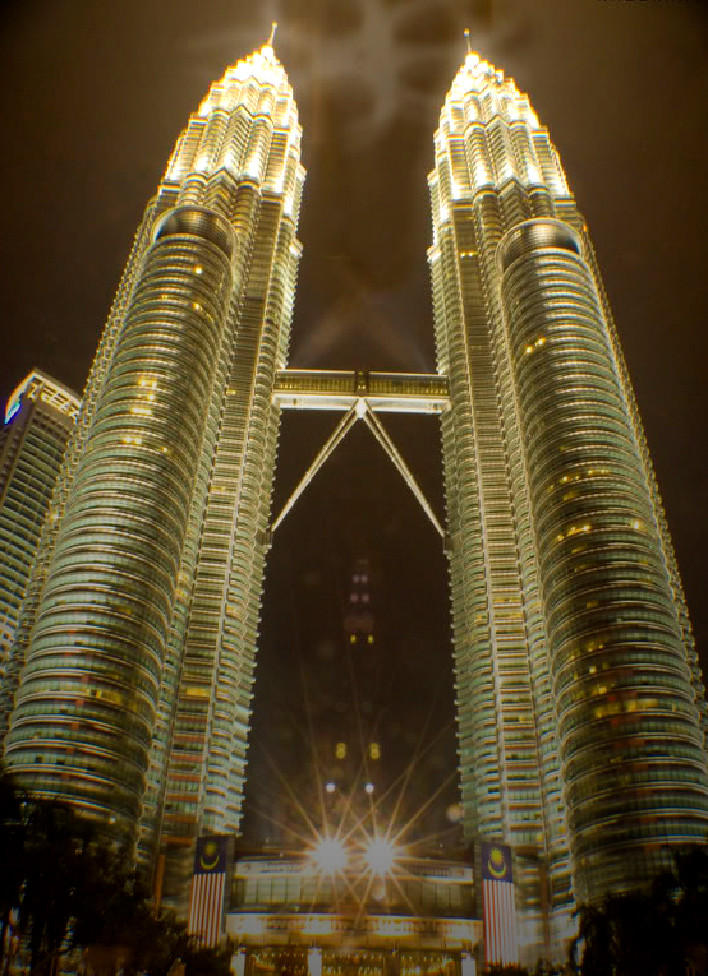 KLCC with some strange or weird symbol!