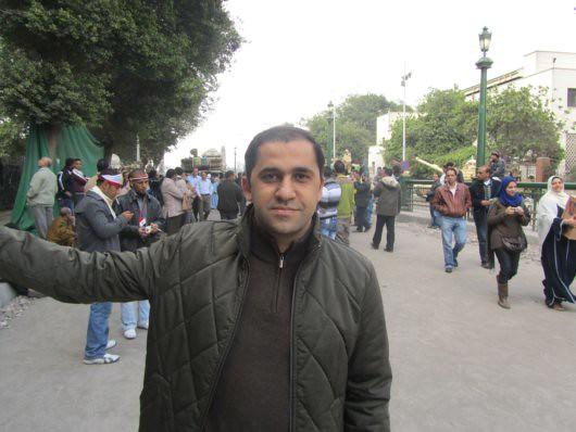 Hossam El-Asgar in Tahrir Square