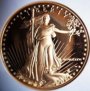 American Gold Eagle 1986-W G-50. Coin