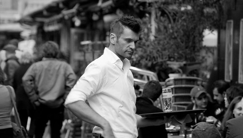 Camarero en el Naschmarkt