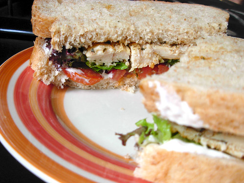 "Quick ""Grilled"" Chicken Sandwich"