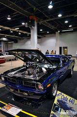 1972 Plymouth Barracuda (Chad Horwedel) Tags: blue classic car illinois plymouth rosemont cuda barracuda 440 supercharger plymouthbarracuda worldofwheels 1972plymouthbarracuda