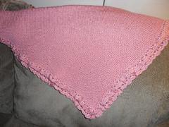 Baby blanket peach