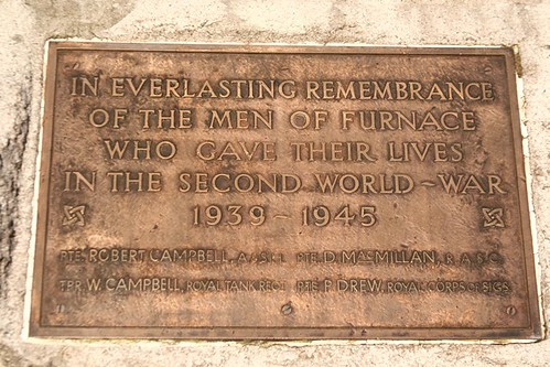 Furnace War Memorial plaque WW2