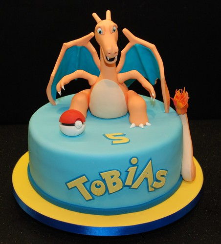 Pokemon Birthday Cake Featuring Charizard
