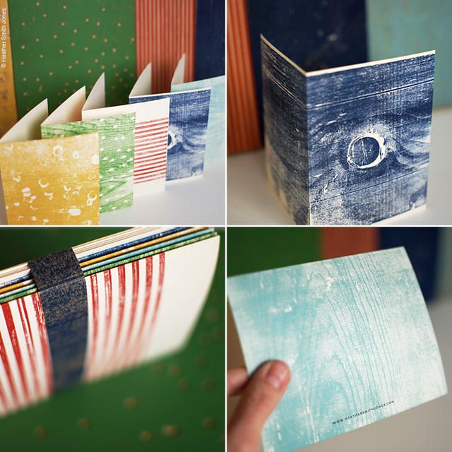 hand printed wood block card sets