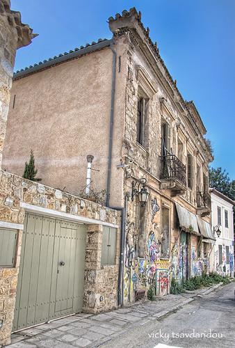 Old house -Plaka-Acropolis by Vicky Tsavdaridou