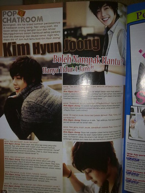 Kim Hyun Joong Epop Malaysian Magazine February 2011 Issue